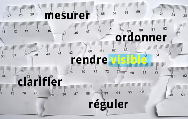 Mesurer, ordonner, rendre visible, clarifier, réguler