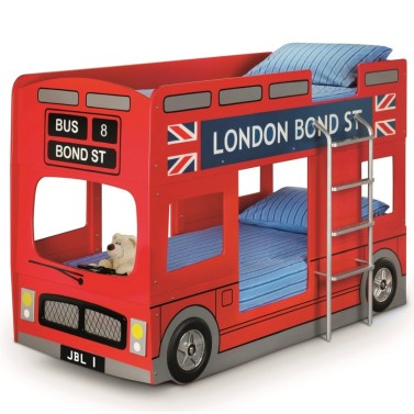 London Bus Red Wooden Kids Theme Bunk Bed Frame - 3ft Single £364.99.jpg