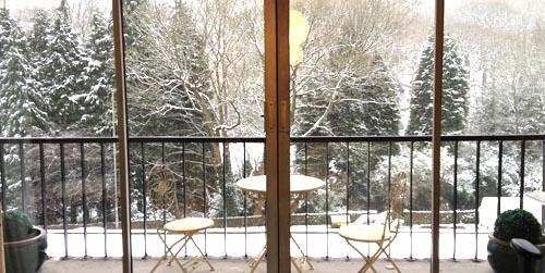 Practice room winter view