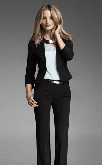 Suits with a statement necklace