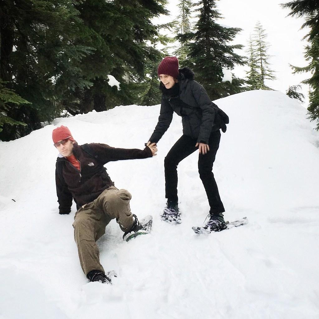 vancouverites snow shoe