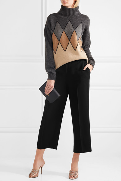 cropped wide-leg