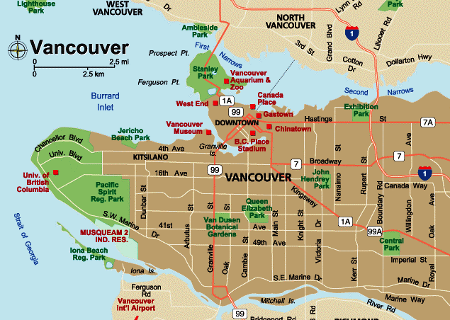 Vancouverites map of vancouver