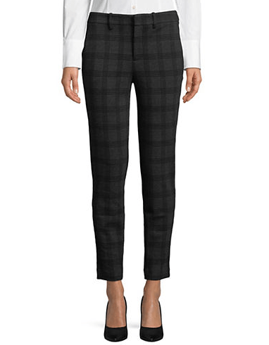 Autumn Fashions plaid ankle pant