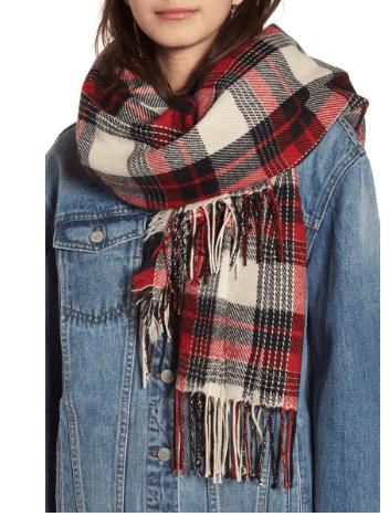 Autumn Fashions plaid scarf