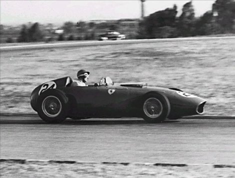 Allison in his Ferrari D246 during the 1960 Argentine Grand Prix