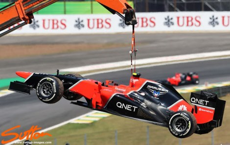 Above: 2012 Marussia MR-01 with upgraded exhaust configuration