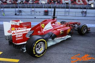 The floor of the Ferrari is painted white today