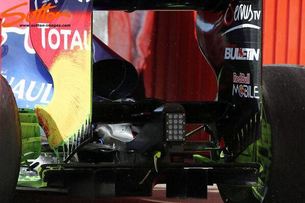 Flo viz on brake ducts and rear wind endplates