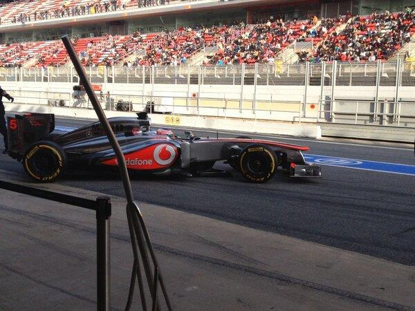Jenson too - desperata for track time in the dying minutes