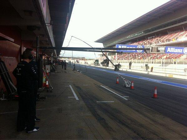 Everyone out who is going out - pit lane awaits...