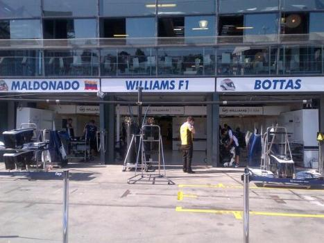 ...leisurely set up at Williams...