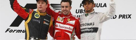 2013 Formula 1 Chinese Grand Prix Podium