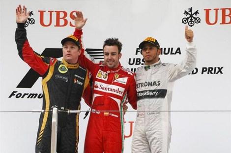 2013 Formula 1 Chinese Grand Prix Podium
