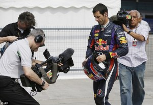 Mark Webber Red Bull Racing China 2013 Q2