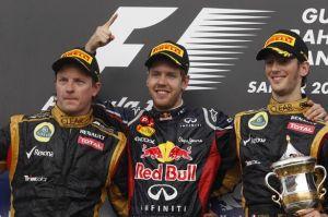 2012 Formula 1 Gulf Air Bahrain Podium