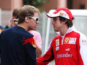 Sebastian Vettel and Fernando Alonso © Im a die hard F1 Fan