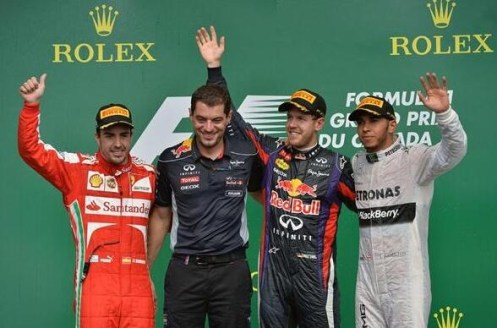 2013 Canadian Grand Prix Podium