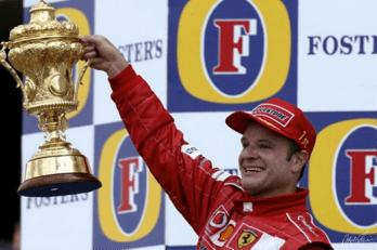 Rubens Podium 2003 © Ferrari