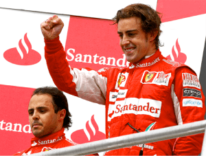 Fernando and Felipe © Ferrari