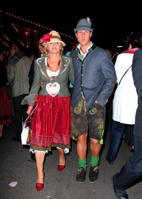 MICHAEL SCHUMACHER AND WIFE CORINNA SCHUMACHER