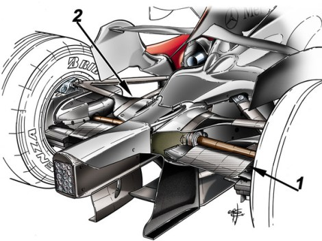 Mclaren MP4-22 faired tie rod