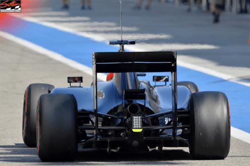 Williams FW36 rear diffuser detail