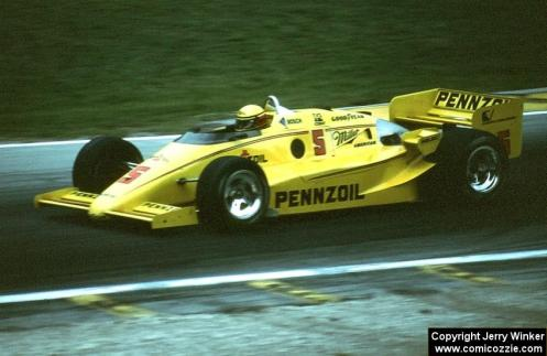 Adrian Newey's first winning openwheel design - Rick Mears in the March 85C-Cosworth. His Penske team mate Al Unser won the 1985 PPG Indycar World Series.