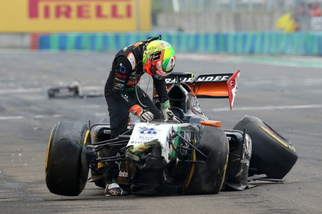 Hardly the way Perez would have wanted to celebrate the return of his home Grand Prix