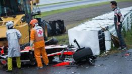 A stunned and shocked Adrian Sutil looks on