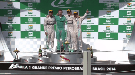 2014 Brazilian GP Podium