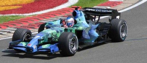 Jenson Button Honda Earth Car F1 2007 British Grand Prix