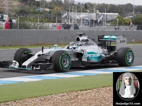 Rosberg glued to the track