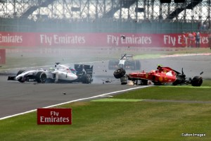 Kimi Silverstone crash