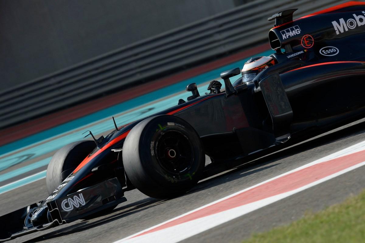 McLaren testing unmarked tires
