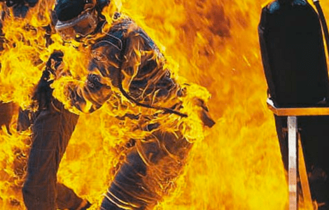 verstappen pit stop flames