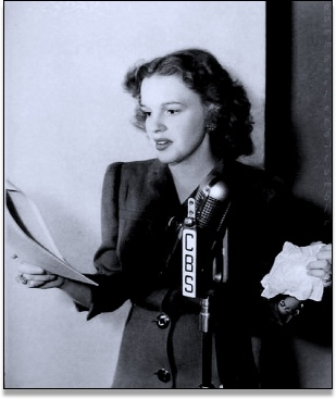 Judy Garland on the radio