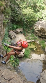Rappeling down
