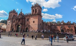 Plaza de Armas of Cusco. Probably the most touristy part of town