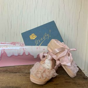 Vintage Baby Ballerina Shoes In An It's A Boy Box
