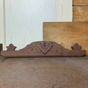 Vintage Architectural Salvage Wood Topper