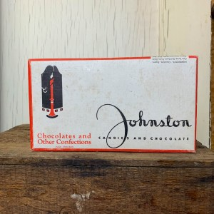Vintage Johnston Candies And Chocolates Box