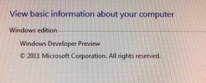 Windows 8 version information