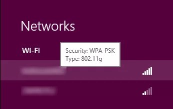 接続できそうなネットワークが表示されているので、