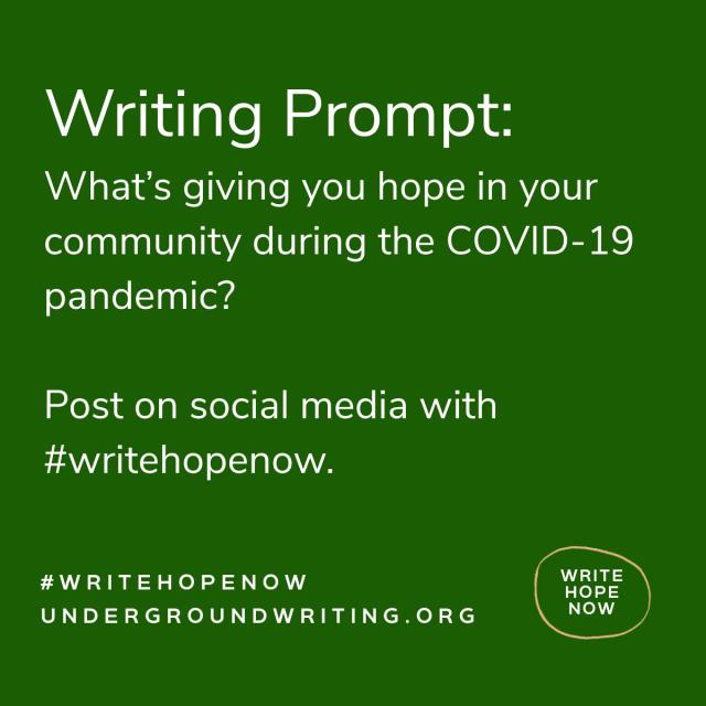 #writehopenow
