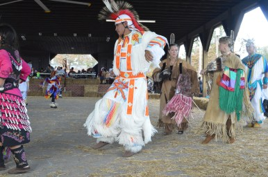 One of the dancers from one of the tribes.