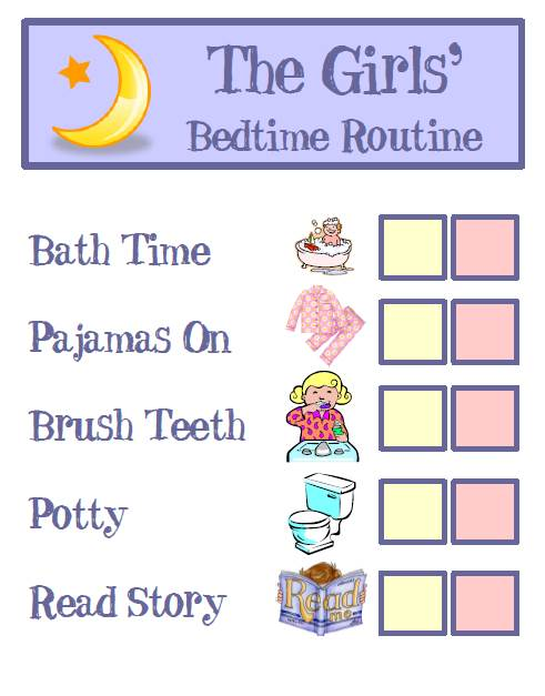 The Girls Bedtime Routine