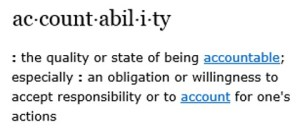 lean, accountability, definition of accountability