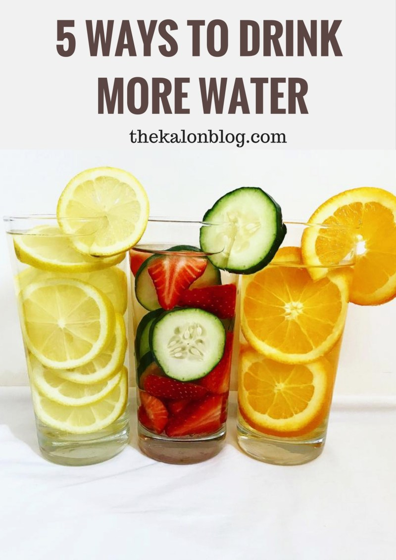 5 Tips for Drinking More Water Every Day