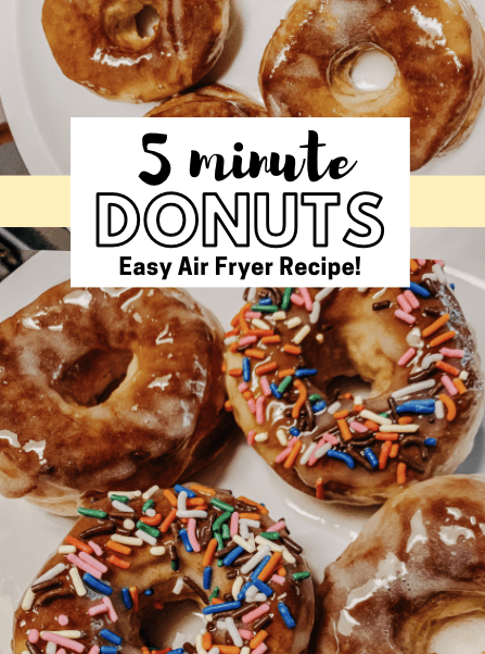 Air Fryer Donuts in Only 5 Minutes!